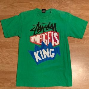 Vintage Stussy Knowledge is King T-shirt